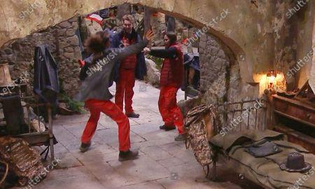 Stock Photo of Pre-Trial - Jessica Plummer, AJ Pritchard and Giovanna Fletcher dancing
