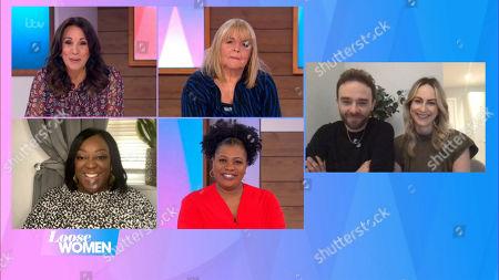Andrea McLean, Linda Robson, Judi Love, Brenda Edwards and Jack P Shepherd Hanni Treweek