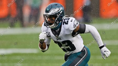 Philadelphia Eagles free safety Rodney McLeod runs a route during the first half of an NFL football game against the Cleveland Browns, in Cleveland