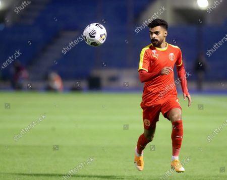 Al-Quadisiya's player Hassan Al-Amri in action during the Saudi Professional League soccer match between Al-Quadisiya and Al-Batin at Prince Mohammed Bin Fahd Stadium, in Dammam, Saudi Arabia, 23 November 2020.