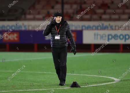 Grimsby manager  Ian Holloway seen before  the SkyBet League Two match between Crawley Town and Grimsby Town at the People's Pension Stadium in Crawley. 24 November 2020.