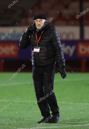 Grimsby manager  Ian Holloway  during the SkyBet League Two match between Crawley Town and Grimsby Town at the People's Pension Stadium in Crawley. 24 November 2020.