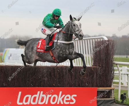 Caribean Boy - Daryl Jacob wins from Fiddlerontheroof -Robbie PowerThe Ladbrokes Committed To Safer Gambling Novices' Chase (Grade 2) Newbury 27.11.20Supplied by Hugh Routledge.