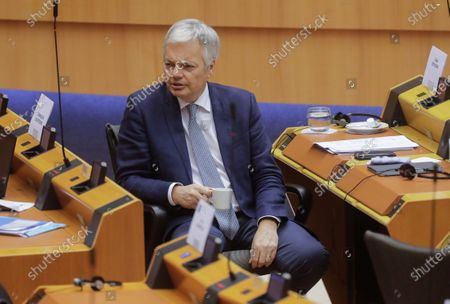 European Commissioner for Justice Didier Reynders on the first day of a plenary session at the European Parliament in Brussels, Belgium, 23 November 2020.