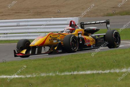 2016 Japanese Formula 3 Championship. Sugo, Japan. 24th - 25th September 2016. Rd 15, 16 & 17. Rd.15 2nd position Jann Mardenborough ( #22 B-MAX NDDP F3 ) action World Copyright : Yasushi Ishihara/LAT Photographic Ref : 2016JF3_Rd15_17SUGO_011