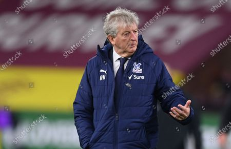 Crystal Palace's manager Roy Hodgson leaves the field after the English Premier League soccer match between Burnley and Crystal Palace at the Turf Moor stadium in Burnley, England