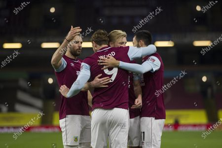 Chris Wood of Burnley celebrates scoring his sides first goal