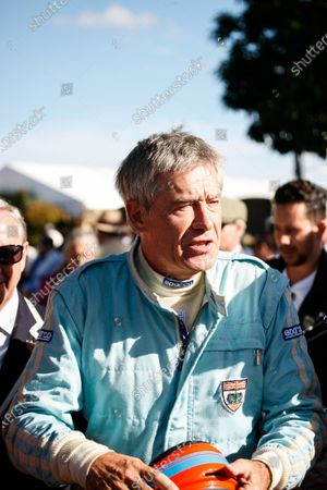 2016 Goodwood Revival Meeting. Goodwood Estate, West Sussex, England.  9th - 11th September 2016 Tiff Needell in the assembly area.   World Copyright: Will Elliott / LAT Photographic.  Reference: _DG27978