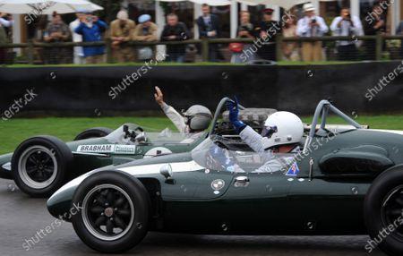 2016 Goodwood Revival Goodwood Estate, West Sussex,England 9th - 11th September 2016 Jack Brabham Tribute Parade David Brabham World Copyright : Jeff Bloxham/LAT Photographic Ref : Digital Image
