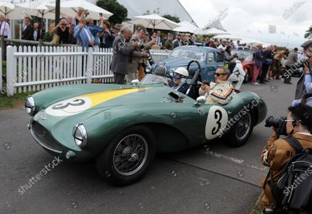 2016 Goodwood Revival Goodwood Estate, West Sussex,England 9th - 11th September 2016 Jack Brabham Tribute Parade Sir Stirling Moss World Copyright : Jeff Bloxham/LAT Photographic Ref : Digital Image