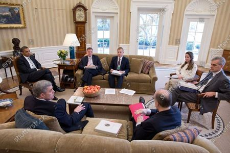 Editorial photo of Meeting National Security Staff, Washington, District of Columbia, USA - 08 Mar 2012