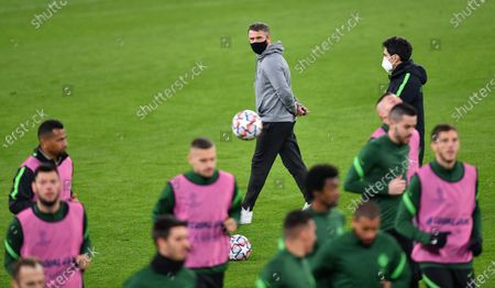 Ferencvaros' coach Serhij Rebrov during a training session at the Allianz stadium in Turin, Italy, 23 November 2020. Ferencvaros will face FC Juventus in their UEFA Champions League group G soccer match on 24 November 2020.