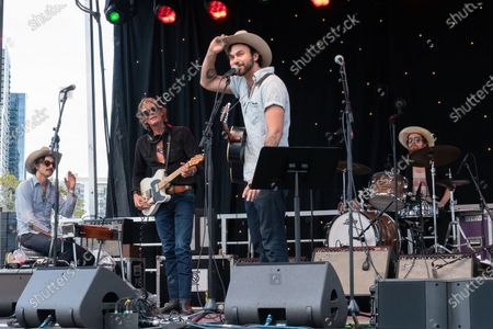 Ricky Ray Jackson, Charlie Sexton, Shakey Graves, and Josh Blue perform at the Songs I Left Behind, a Tribute to Billy Joe Shaver, a Long Live Music event on the lawn at the Long Center