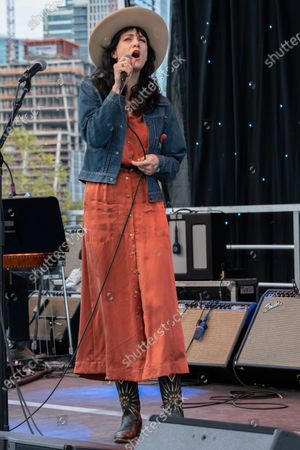 Nikki Lane performs at the Songs I Left Behind, a Tribute to Billy Joe Shaver, a Long Live Music event on the lawn at the Long Center