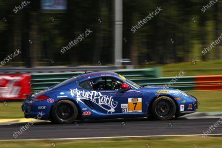 26-27 August, 2016, Alton, Virginia USA 7, Porsche, Cayman GT4, ST, Elliott Skeer, Sam Adams ?2016, Jake Galstad LAT Photo USA