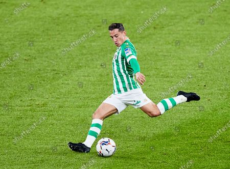 Andres Guardado of Real Betis Balompie during the Spanish league, La Liga Santander, football match played between Athletic Club and Real Betis Balompie at San Mames stadium on November 23, 2020 in Bilbao, Spain.