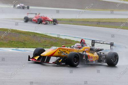 2016 Japanese Formula 3 Championship. Motegi, Japan. 20th - 21st August 2016. Rd 11 & 12. Round 11 Winner Jann Mardenborough ( #22 B-MAX NDDP F3 ) action World Copyright : Yasushi Ishihara/LAT Photographic Ref : 2016JF3_R11&12_005