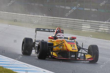 2016 Japanese Formula 3 Championship. Motegi, Japan. 20th - 21st August 2016. Rd 11 & 12. Round 11 Winner Jann Mardenborough ( #22 B-MAX NDDP F3 ) action World Copyright : Yasushi Ishihara/LAT Photographic Ref : 2016JF3_R11&12_003
