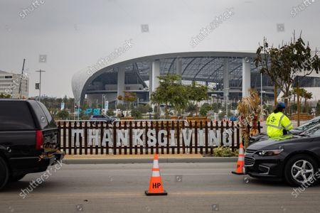 Editorial image of Snoop Dogg attends Drive-thru Turkey Distribution, Inglewood, USA - 23 Nov 2020