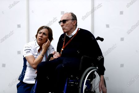 Hockenheim, Germany. Saturday 30 July 2016. Claire Williams, Deputy Team Principal, Williams Martini Racing, with her father Sir Frank Williams, Team Principal, Williams Martini Racing. World Copyright: Dunbar/LAT Photographic