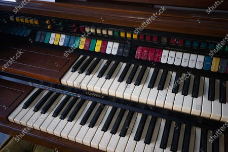 Stock Image of An organ played by US musician Gregg Allman is displayed and put for auction at Julien's Auctions in Beverly Hills, California, USA, 23 November 2020. The auction will be held on 01 December 2020.