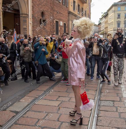 Editorial image of Philosophy show, Arrivals, Spring Summer 2021, Milan Fashion Week, Italy - 26 Sep 2020