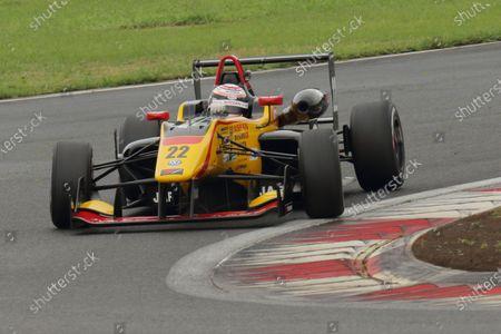 2016 Japanese Formula 3 Championship Fuji, Japan. 16th - 17th July 2016. Rd 9 & 10. Rd.10 2nd position Jann Mardenborough ( #22 B-MAX NDDP F3 ) action World Copyright : Yasushi Ishihara/LAT Photographic Ref : 2016JF3_R9&10_009