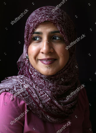 Editorial image of Shelina Janmohamed at home in Pinner, London, Britain - 24 Dec 2009