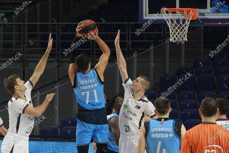 Estudiantes Movistar against Unicaja basketball match during the Spanish league Endesa at the Wizink Center stadium in Madrid on November 23, 2020.Estudiantes' player Alessandro Gentile