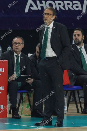 Estudiantes Movistar against Unicaja basketball match during the Spanish league Endesa at the Wizink Center stadium in Madrid on November 23, 2020.Unicaja's coach Luis Casimiro Palomo