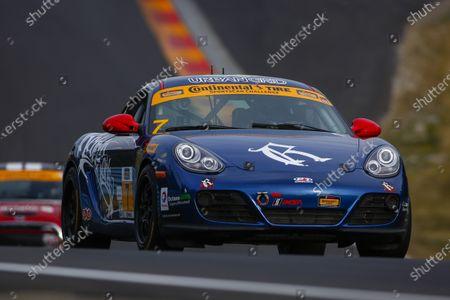 30 June-2 July, 2016, Watkins Glen, New York USA 7, Porsche, Cayman GT4, ST, Elliot Skeer, Sam Adams ?2016, Jake Galstad LAT Photo USA