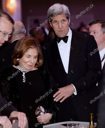 United States Secretary of State John Kerry with his wife Teresa Heinz Kerry attend the White House Correspondents' Association annual dinner at the Washington Hilton hotel in Washington.This is President Obama's eighth and final White House Correspondents' Association dinner.