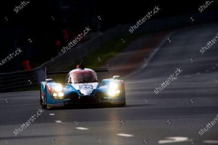Stock Picture of 2016 Le Mans 24 Hours. Circuit de la Sarthe, Le Mans, France. Sunday 19 June 2016. Algarve Pro Racing / Ligier JS P2 - Nissan - Michael Munemann (GBR), Christopher Hoy (GBR), Andrea Pizzitola (FRA).  World Copyright: Zak Mauger/LAT Photographic