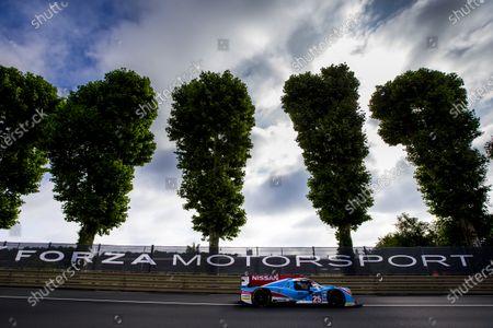 2016 Le Mans 24 Hours. Circuit de la Sarthe, Le Mans, France. Saturday 18 June 2016. Algarve Pro Racing / Ligier JS P2 - Nissan - Michael Munemann (GBR), Christopher Hoy (GBR), Andrea Pizzitola (FRA).  World Copyright: Zak Mauger/LAT Photographic