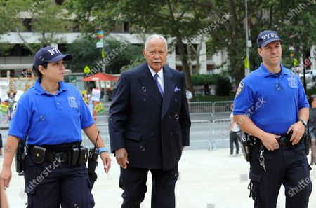 Former New York City Mayor David Dinkins attends a Memorial Service for the long time CBS News Anchor Walter Cronkite at Lincoln Center in New York, USA, 09 September, 2009. Cronkite died in July 2009 at age 92.