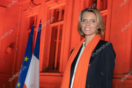 Editorial photo of Lighting ceremony at the Hotel de Beauvau, Paris, France - 23 Nov 2020