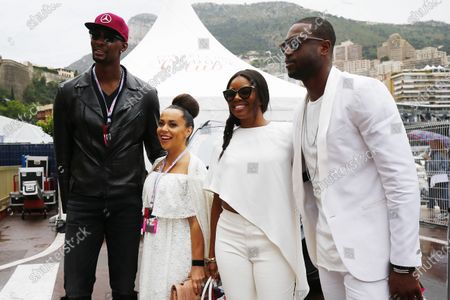 Monte Carlo, Monaco. Sunday 29 May 2016. Basketball stars Chris Bosh and Dwayne Wade with wives Adrienne Williams Bosh and Gabrielle Union. World Copyright: Andrew Hone/LAT Photographic