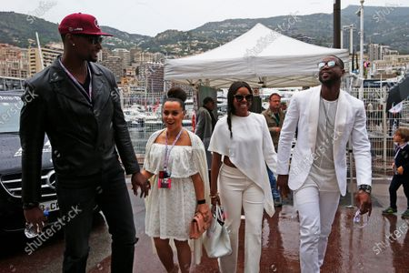 Monte Carlo, Monaco. Sunday 29 May 2016. Basketball stars Chris Bosh and Dwayne Wade with wives Adrienne Williams Bosh and Gabrielle Union. World Copyright: Sam Bloxham/LAT Photographic