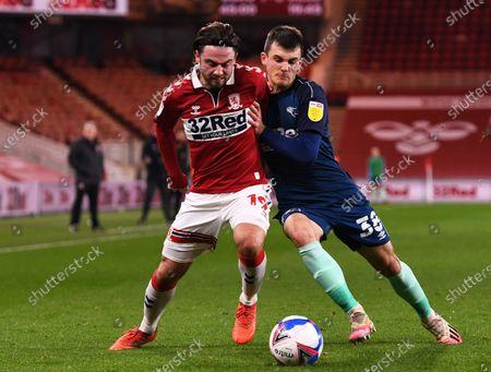 Editorial photo of Middlesbrough v Derby County, EFL Sky Bet Championship, Football, Riverside Stadium, Middlesbrough, UK - 25 Nov 2020