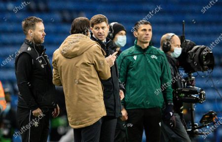 Steven Gerrard manager of Rangers at full time