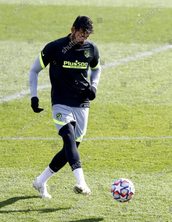 Atletico Madrid's Diego Costa performs during his team's training session at Sports City in Majadahonda, near Madrid, Spain, 24 November 2020. Atletico Madrid will face Lokomotiv Moscow in their UEFA Champions League group A soccer match on 25 November 2020.