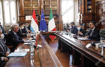 Editorial image of Di Maio meets Asselborn, Rome, Italy - 24 Nov 2020