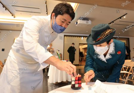 Editorial image of Hungarian embassy holds a reception for the 40th anniversary of Lubik's Cube, Tokyo, Japan - 24 Nov 2020