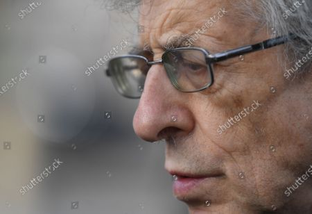 Anti-vax demonstrator Piers Corbyn protesting against Covid-19 vaccination, outside the headquarters of the Bill and Melinda Gates Foundation in London, Britain, 24 November 2020. Vaccine trials from a number of pharmaceutical companies are proving successful, giving hope at ending restrictions due to the ongoing coronavirus pandemic.