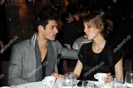 David Gandy with Sarah Woodhead