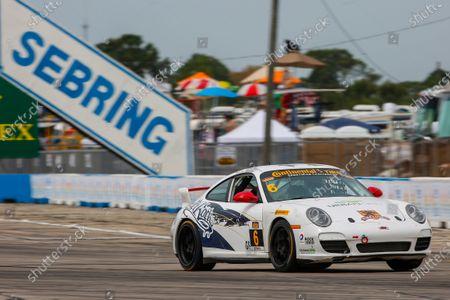 16-18 March, 2016, Sebring, Florida, USA 6, Porsche, 997, GS, Frank Depew, Jim Jonsin ?2016, Jake Galstad LAT Photo USA