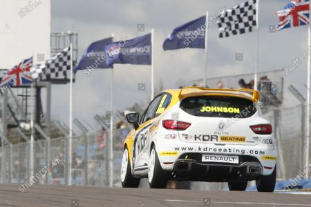 Stock Image of 2016 Renault Clio Cup, Donington Park, 16th-17th April 2016, Darren Johnson (GBR) Team Pyro Renault Clio Cup  World copyright. Jakob Ebrey/LAT Photographic