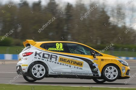 Stock Picture of 2016 Renault Clio Cup, Donington Park, 16th-17th April 2016, Darren Johnson (GBR) Team Pyro Renault Clio Cup  World copyright. Jakob Ebrey/LAT Photographic