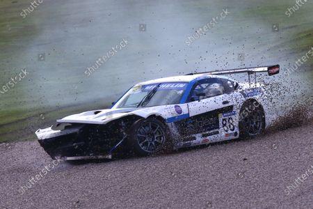 Ginetta GT4 Supercup, Donington Park, 16-17 April 2016. John Wall (GBR) Century Motorsport Ginetta G55  World copyright. Ebrey/LAT Photographic