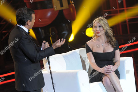 Editorial picture of 'Chiambretti Night' TV programme, Milan, Italy - 29 Jan 2010